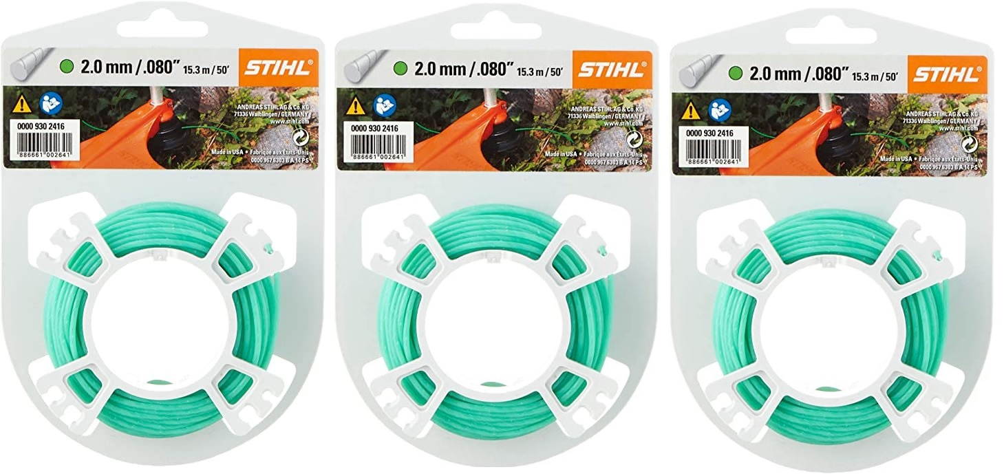 |Stihl. Set Fils de coupe ronds silencieux 2,0 mm