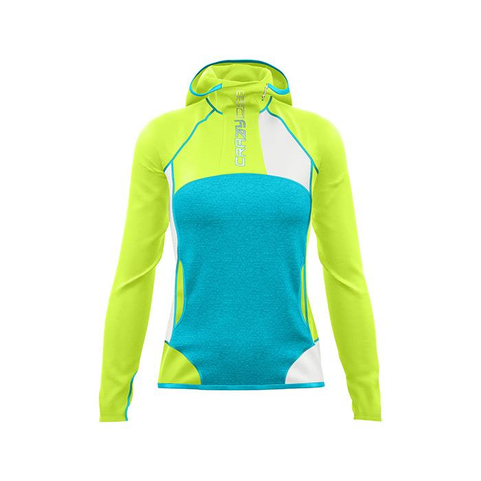 Crazy |Pull Premium Light Woman - Yellow Fluo