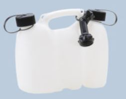 réservoir double PROFI 3+1,5 L, PE-HD naturel, hom